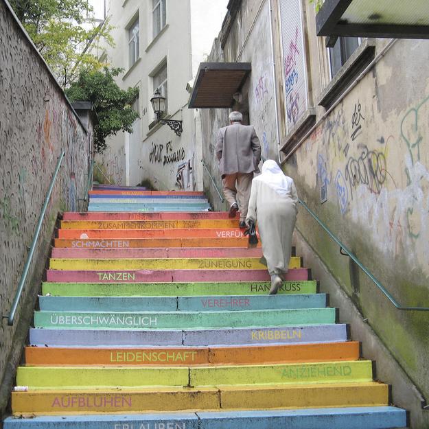 Scala, la escalera multicolor de Horst Gläsker