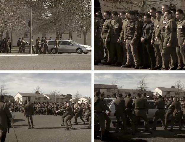 La despedida del ejército de Nueva Zelanda a los soldados que fallecen en combate