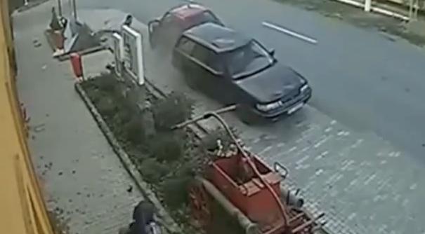 Impresionante accidente de moto