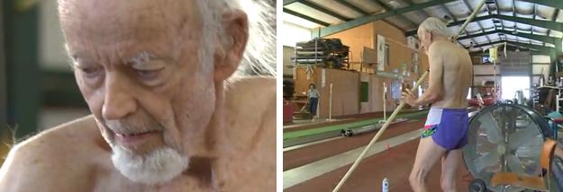 William Bell tiene 90 años y el récord mundial de salto con pértiga