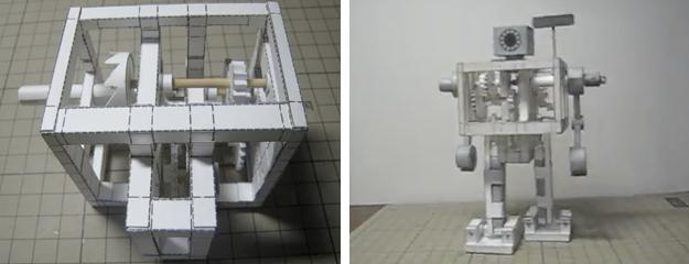 Japón: Robot bípedo hecho de papel