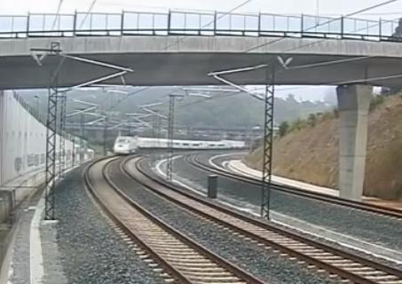Vídeo del accidente de tren de Santiago de Compostela grabado por una cámara de seguridad