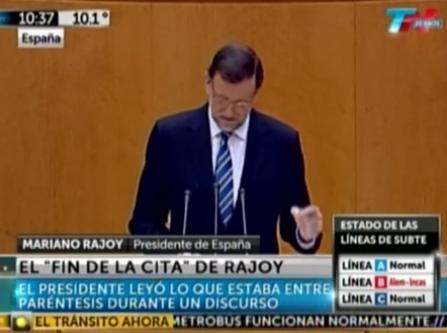El ''Fin de la cita'' de Rajoy, descojone internacional