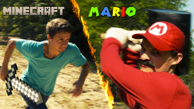 Pelea en la vida real steve minecraft vs mario super for Videos de minecraft en la vida real