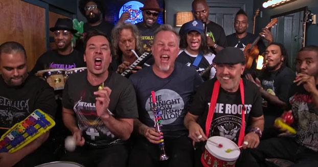 Metallica tocando su clásico 'Enter Sandman' con instrumentos de juguete