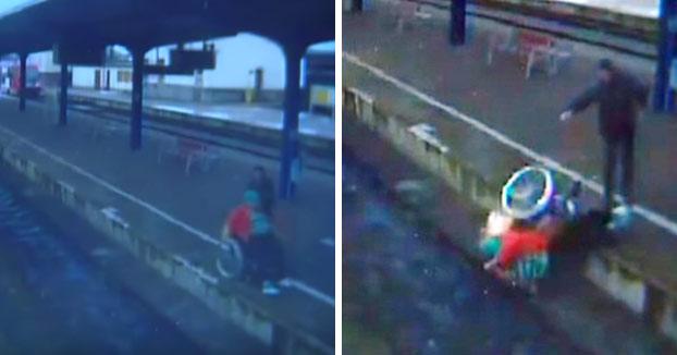 Deleznable: Tira a una anciana en silla de ruedas a las vías del tren y le pega con una piedra