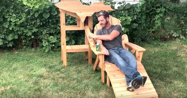 Este tío se ha ganado el respeto del mundo fabricando una silla dispensadora de cerveza