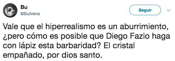 Vale que el hiperrealismo es un aburrimiento, ¿pero cómo es posible que Diego Fazio haga con lápiz esta barbaridad?