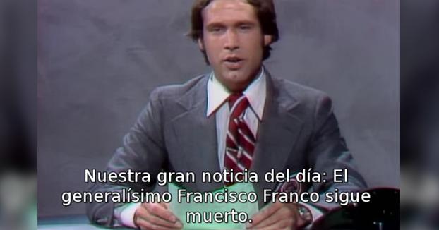 En 'Saturday Night Live' estuvieron 21 programas riéndose de la muerte de Franco después de producirse
