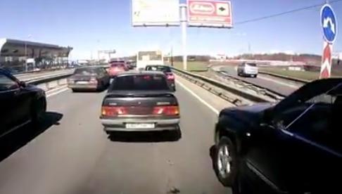 Cómo incorporarse a un carril al estilo ruso