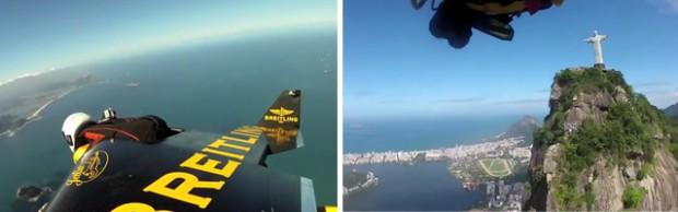 Jetman vuela sobre Río de Janeiro