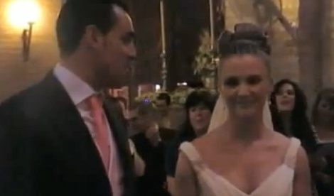 La novia sorprende al novio en plena boda con la canción 'Quiéreme' de Nuria Fergó