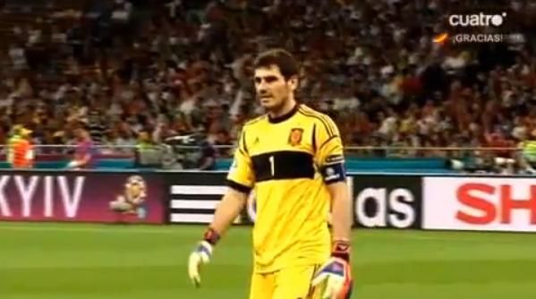 Iker Casillas pide respeto por Italia en la final de Eurocopa 2012