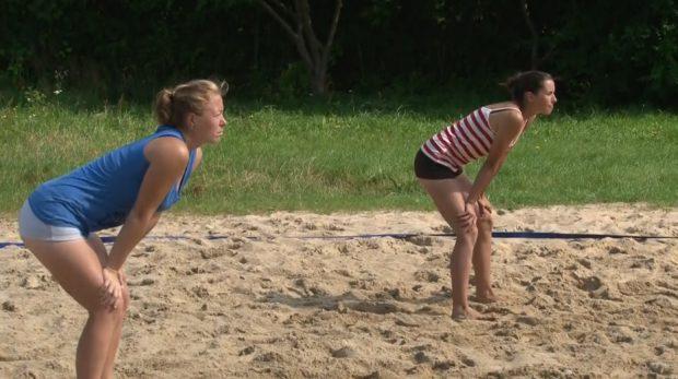 A esta jugadora de voleibol playa le traicionó el subconsciente
