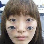 Maquillaje cuatro ojos en la cara