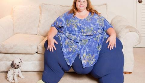 La mujer más gorda del mundo pierde 44 kg. en un maratón de sexo