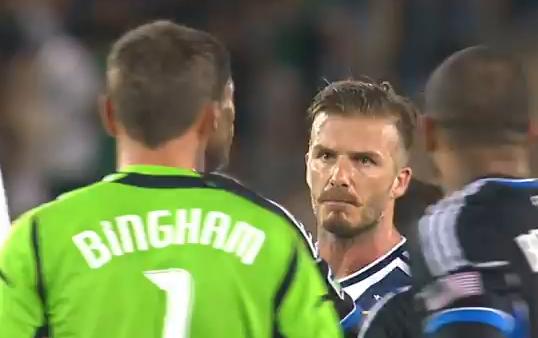 Pelea de David Beckham con el equipo de San Jose Earthquake