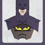 Superhéroes hechos con diferentes tipografías