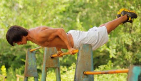 El entrenamiento de Akram Omankulov