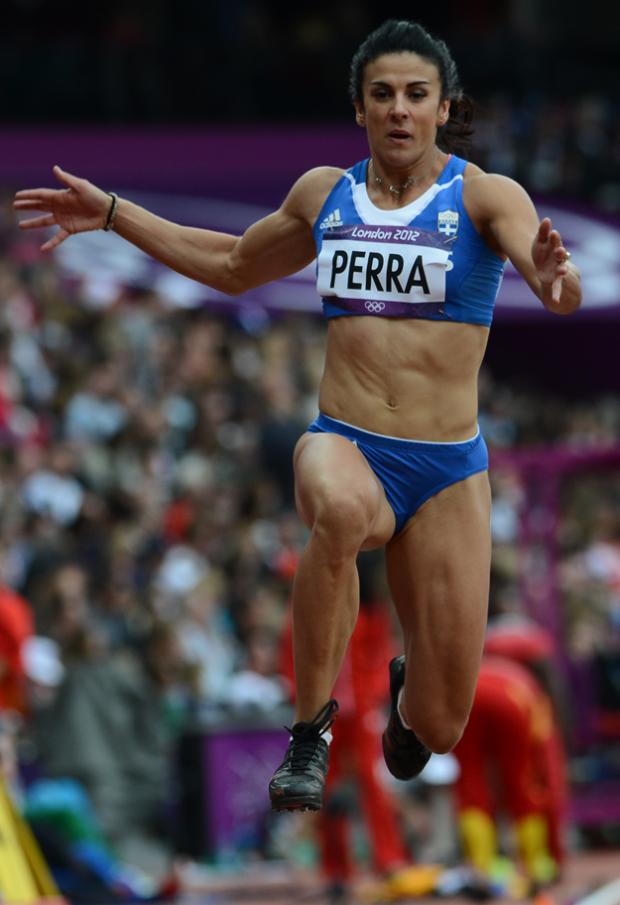 Athanasia Perra, atleta griega de salto triple