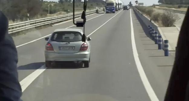 Accidente en la N-II viniendo de Girona