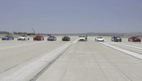 Carrera con los coches más potentes del mundo