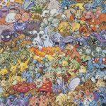 Los 151 personajes de Pokemon de primera generación hechos a punto de cruz