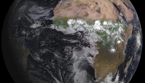 Impresionante fotografía de la Tierra tomada por el Meteosat MSG-3