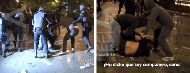 25-S: Un policía de paisano, a otro uniformado: ''¡Qué soy compañero, coño!''