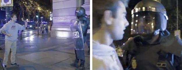 26-S: Exige al policía que le ha golpeado que se identifique y le vuelven a pegar