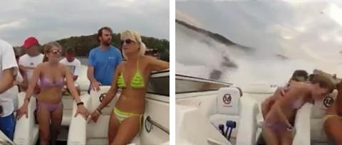 Impresionante accidente de una lancha en un lago de Missouri grabado desde el interior