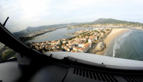 Aterrizaje habitual en el aeropuerto de San Sebastián