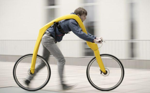 FLIZ, la bicicleta sin pedales al estilo de los Picapiedra