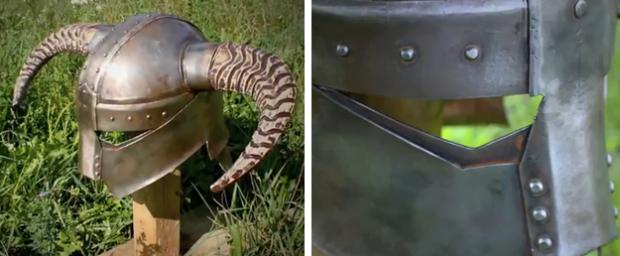 Casco de Skyrim artesanal hecho de acero