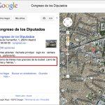 Esto es lo que sale en Google Maps cuando buscas ''Congreso de los Diputados''