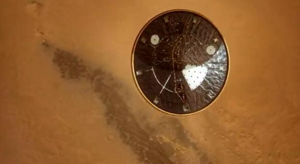 Vídeo del descenso del Curiosity en Marte corregido con software de interpolación de fotogramas