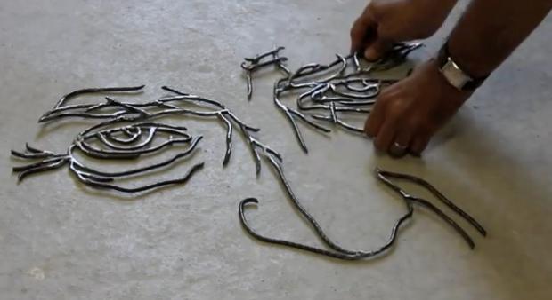 Las esculturas de alambre de Gavin Worth