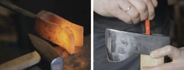El nacimiento de una herramienta. Hacha fabricada a mano