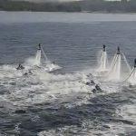 Flyboard: Imitando a los delfines con propulsores hidráulicos
