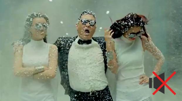 El Gangnam Style de PSY sin música