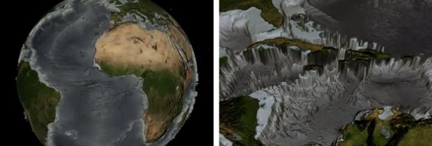 ¿Qué aspecto tendría la Tierra sin océanos?