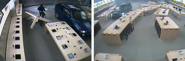Roban en una Apple Store estrellando un BMX X5 contra el escaparate
