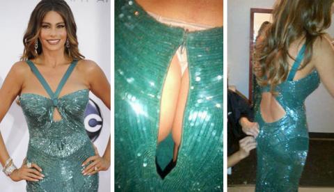 A Sofía Vergara se le rompe el vestido y enseña su trasero en Twitter