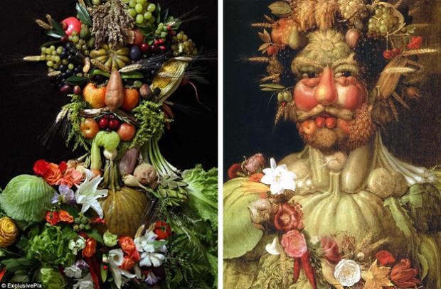 El fotógrafo Klaus Enrique Gerdes recrea retratos del pintor italiano Giuseppe Arcimboldo