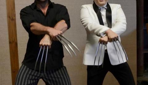 Hugh Jackman y PSY, un baile con mucha garra