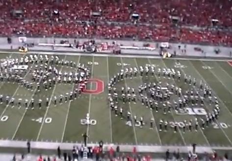 Impresionante coreografía de la banda de música de la Universidad Estatal de Ohio