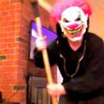 Una máscara de payaso acojona de verdad