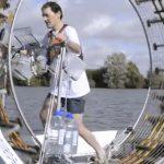 Cruzará el mar de Irlanda en una rueda de hámster gigante