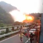 Impresionante explosión de gas natural en China