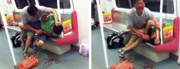 Un pensionista de 70 años ataca a mordiscos a un joven de 20 en el metro chino